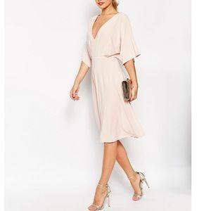 Kimono light pink dress